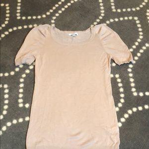 Gap nude pink puff sleeve shirt